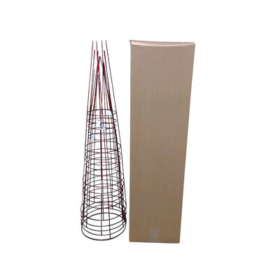 Plant Support Glamos Wire Size: 54 H x 16 W x 16 D, Color: Ruby Red