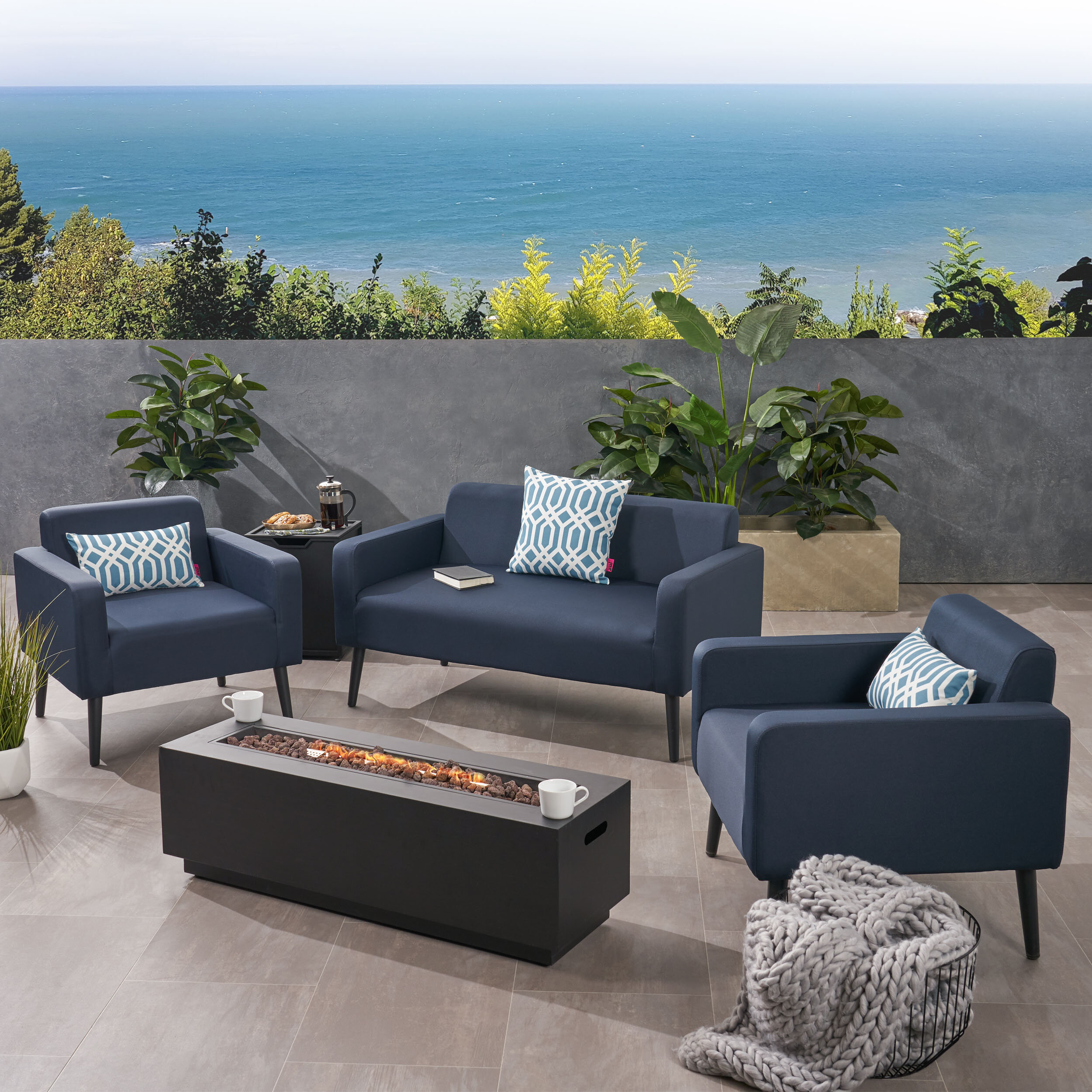 Miraculous Breckenridge Outdoor 5 Piece Sofa Seating Group With Cushions Gmtry Best Dining Table And Chair Ideas Images Gmtryco