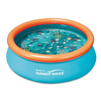 Summer Waves 8Ft X 30In Kiddie Inflatable Above Ground Pool (No Pump Included) Polygroup Trading Ltd -  P10008303