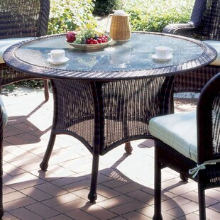 Panama Glass Dining Table by South Sea Rattan