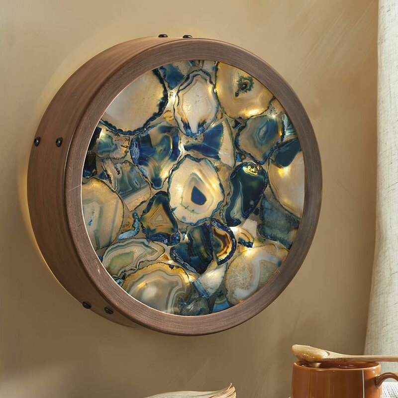 Wind weather agate lighted wall dcor reviews wayfair agate lighted wall dcor aloadofball Images