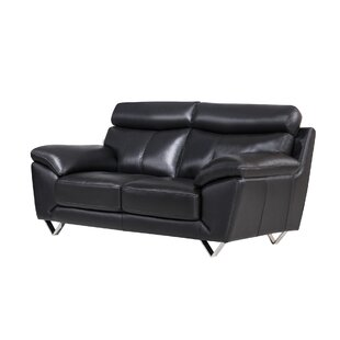 American Eagle International Trading Inc. Valencia Leather Loveseat