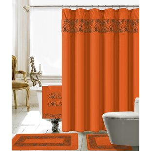 Orange Shower Curtains You'll Love in 2019 | Wayfair