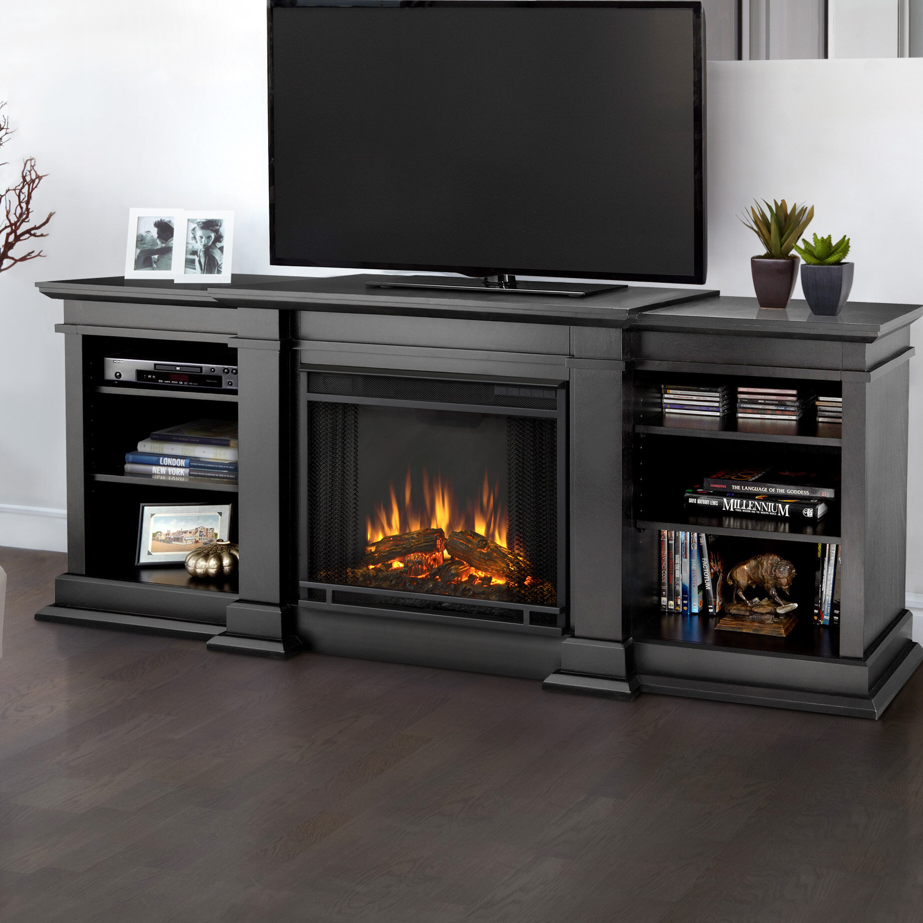 Real Flame Fresno Entertainment Center For Tvs Up To 70 With