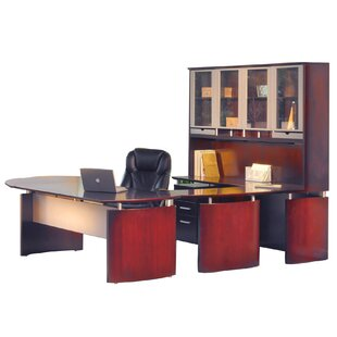Mayline Group Napoli 8-Piece U-Shape Desk Office Suite