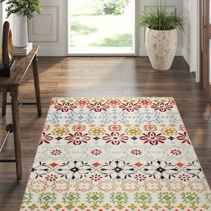 Luxury Floral Flower 9 X 12 Area Rugs Perigold