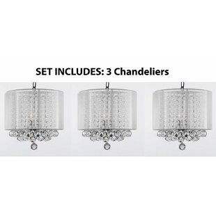 Orren Ellis Huddleston 3-Light Drum Chand..