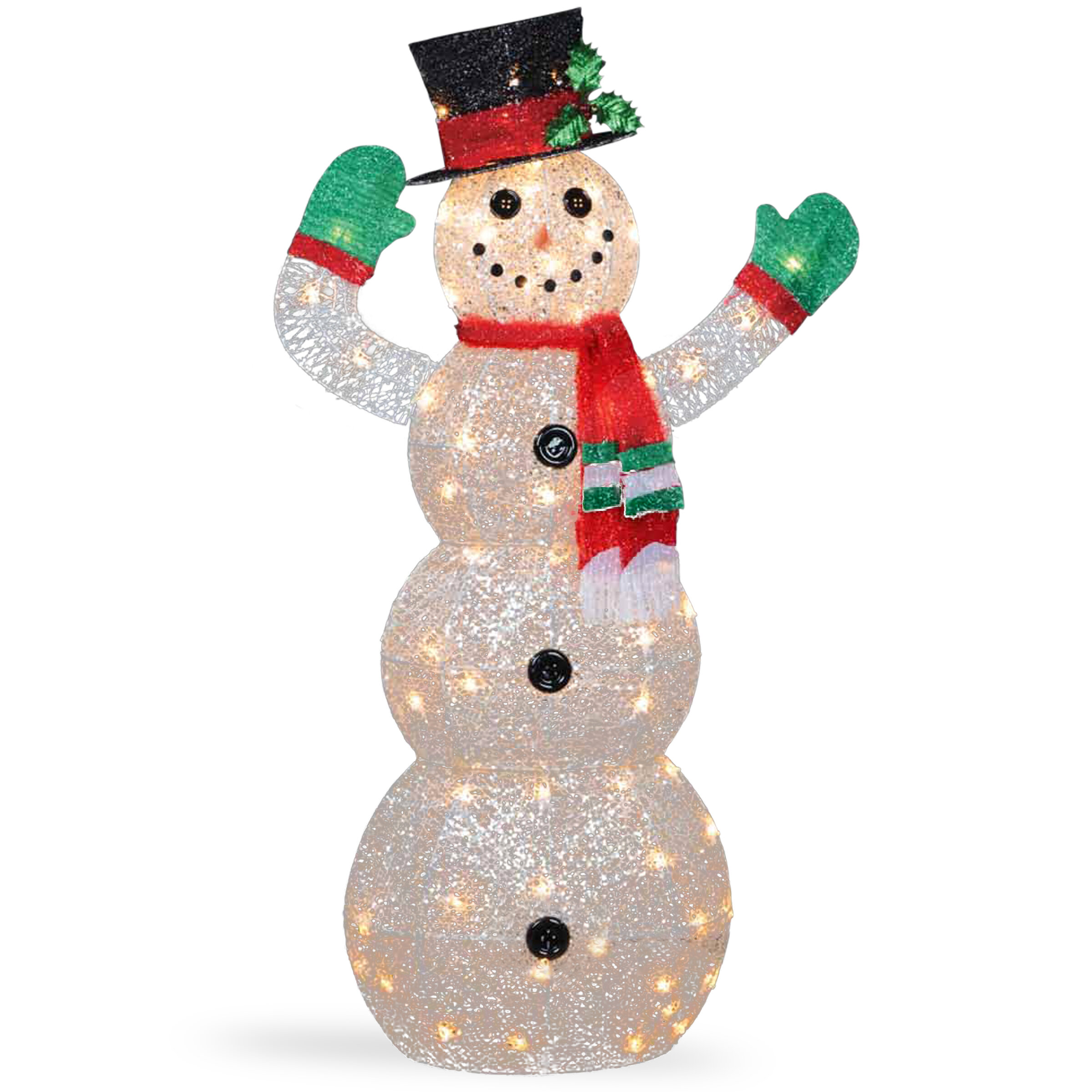 the holiday aisle crystal snowman christmas indooroutdoor decoration reviews wayfair - Indoor Snowman Christmas Decorations