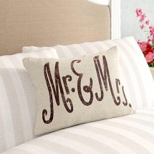 Eisenberg Mr. & Mrs. Linen Lumbar Pillow