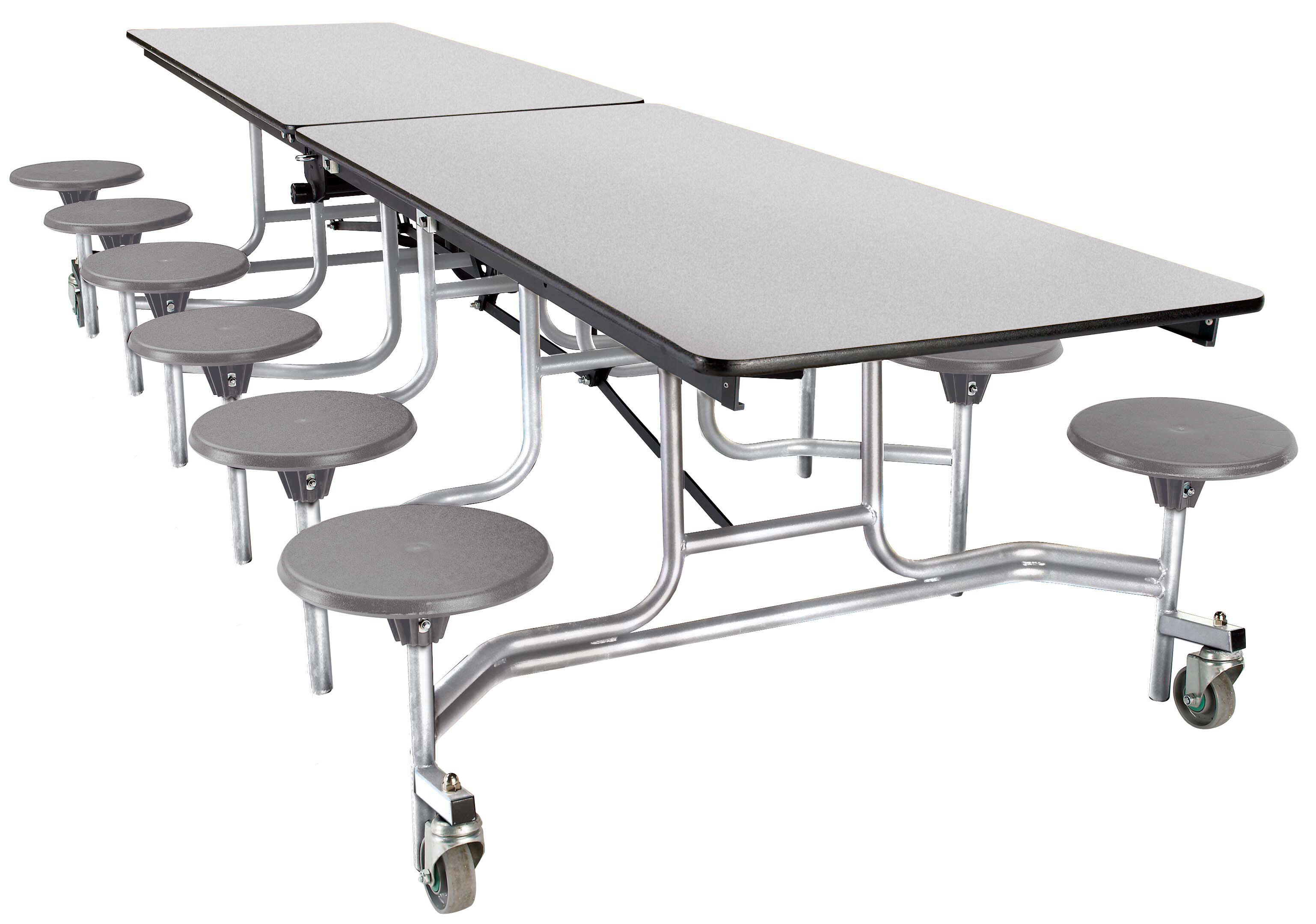National Public Seating 121 X 59 High Pressure Laminate Rectangular Stool Cafeteria Table Wayfair