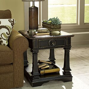 Kaufman Round Wood End Table by Darby Home Co