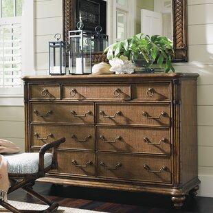 Tommy Bahama Home Bali Hai 9 Drawer Dresser