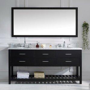 White Marble Vanity | Wayfair