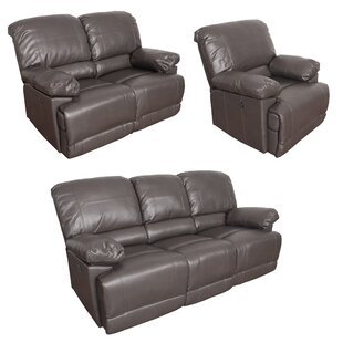 Red Barrel Studio Coyer Reclining 3 Piece Living Room Set