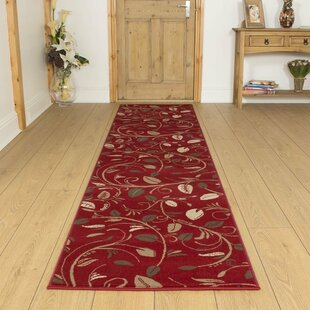 Angelina Tufted Red Hallway Runner Rug Image