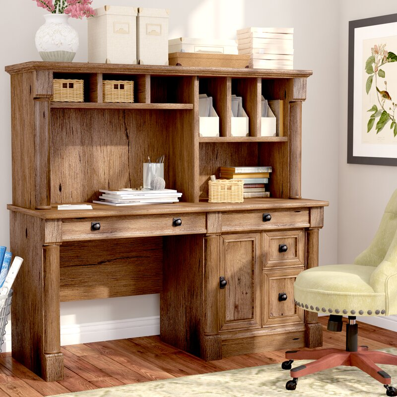 three posts orviston computer desk with hutch reviews wayfair
