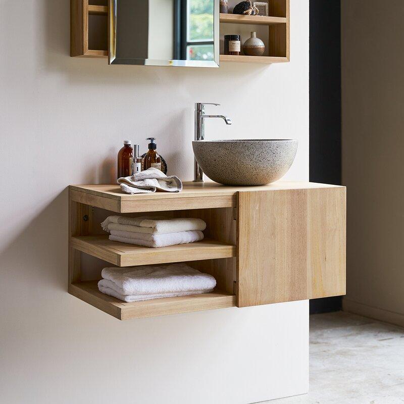 typo 90cm wall mounted under sink storage unit