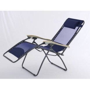 Symple Stuff XL Zero Gravity Chaise Lounge with Cool Mesh Technology