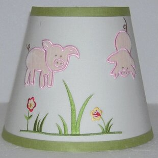 Embroidered lamp shade wayfair appletree farm 8 empire lamp shade aloadofball Choice Image