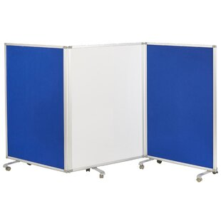 Mobile Dry-Erase Flannel 3 Panel Room Divider by ECR4kids