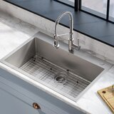 Stark Pull-Down Commercial Combo 33 L x 22 W Kitchen Sink with Faucet