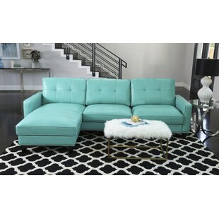 Elverson Leather Reversible Sectional By Red Barrel Studio