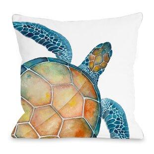 Oversized Sea Turtle Throw Pillow