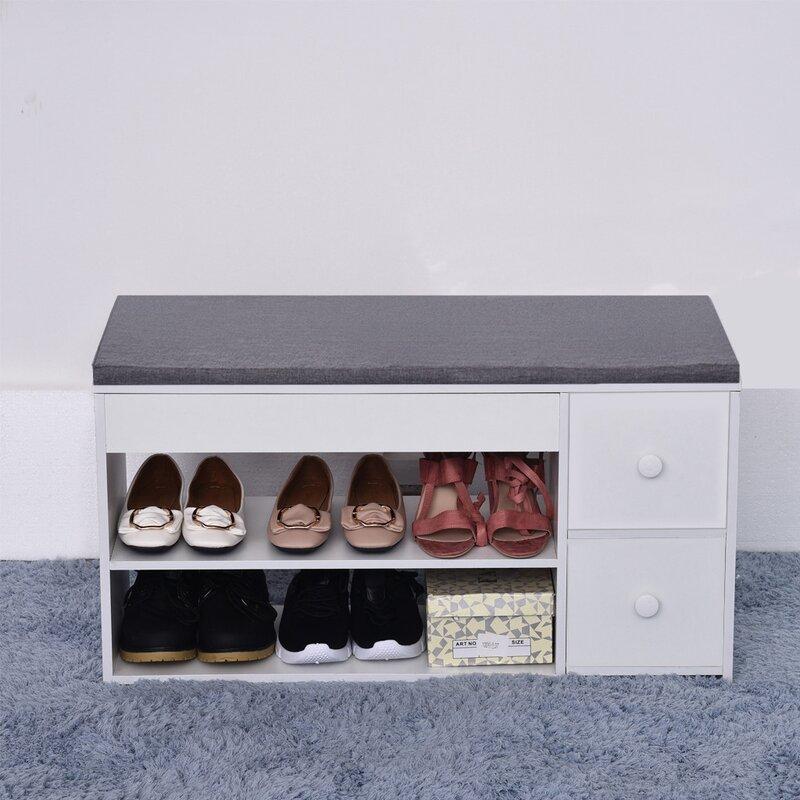 Latitude Run 6 Pair Shoe Storage Bench Wayfair