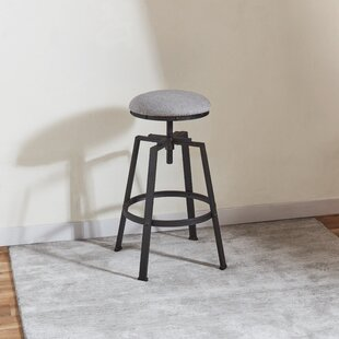 Erroll Swivel Adjustable Height Bar Stool by 17 Stories