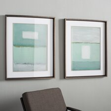 Framed Wall Art Set Of 2 modern framed wall art | allmodern