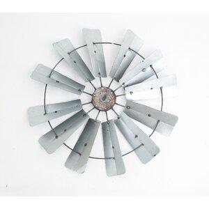 Galvanized Full Windmill Wall Du00e9cor
