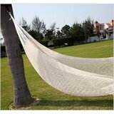Lisa Double Tree White Cotton Hammock