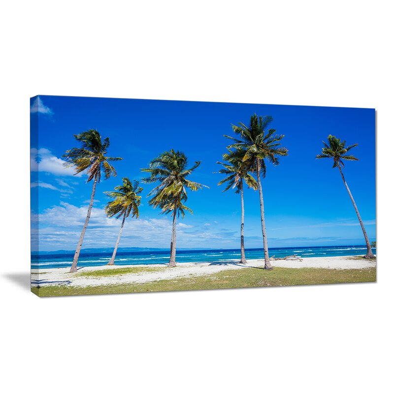 Designart Bright And Clear Tropical Beach Photographic Print On Wrapped Canvas Wayfair