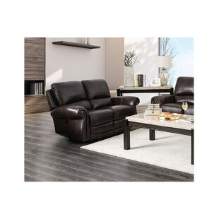 Shop Brodhead Leather Reclining Loveseat by Darby Home Co