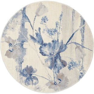 Smithtown Tan/Blue/Taupe/Soft Blue Area Rug by Andover Mills