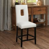 Krall Leather Bar Stool (Set of 2) by Ebern Designs