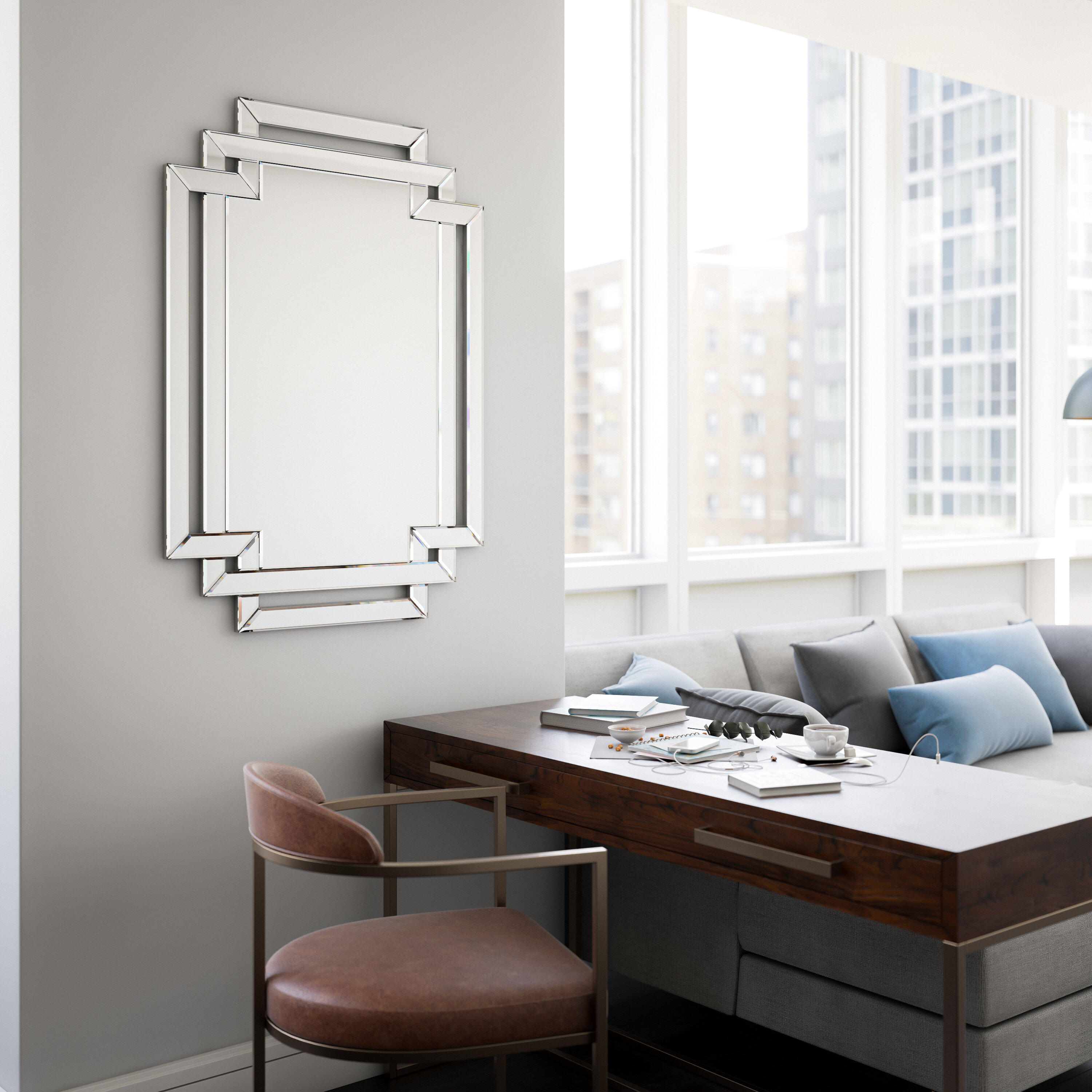 Traditional Beveled Accent Mirror Reviews Birch Lane