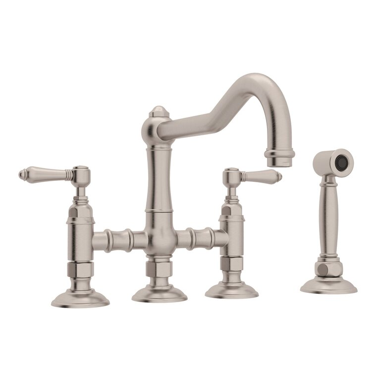 Rohl Acqui Bridge Kitchen Faucet With Side Spray Wayfair