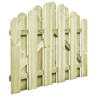 Etchemin Garden Arched 3' X 2' (1m X 0.75m) Wood Gate By Sol 72 Outdoor
