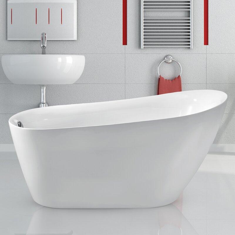59 X 28 Freestanding Soaking Bathtub Reviews Joss Main