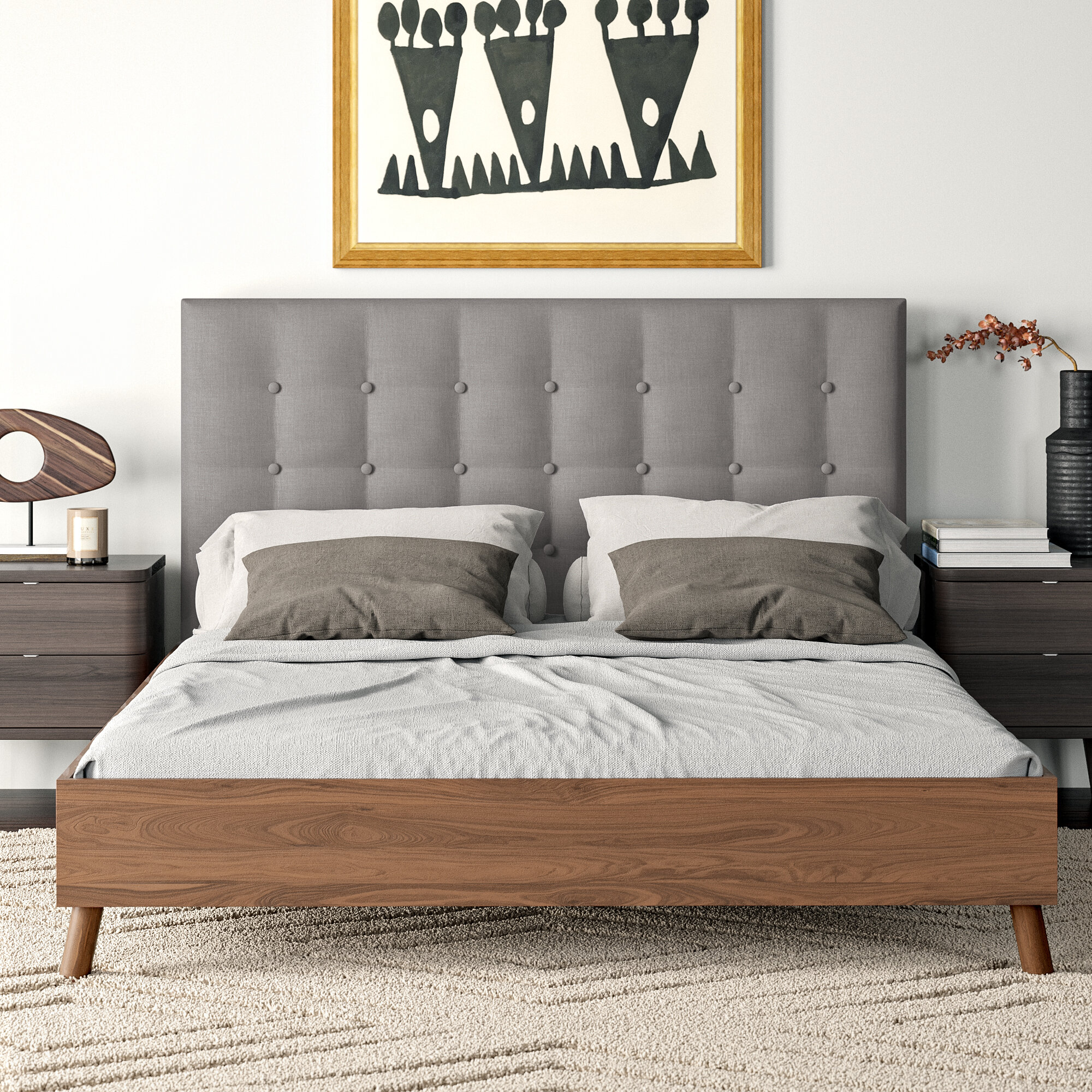Alaina Upholstered Platform Bed