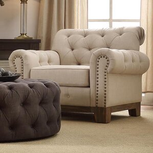 New Britain Scroll Armchair by Three Posts