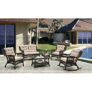 August Grove Grund Outdoor Garden 6 Piece Sofa Seating Group with Cushions