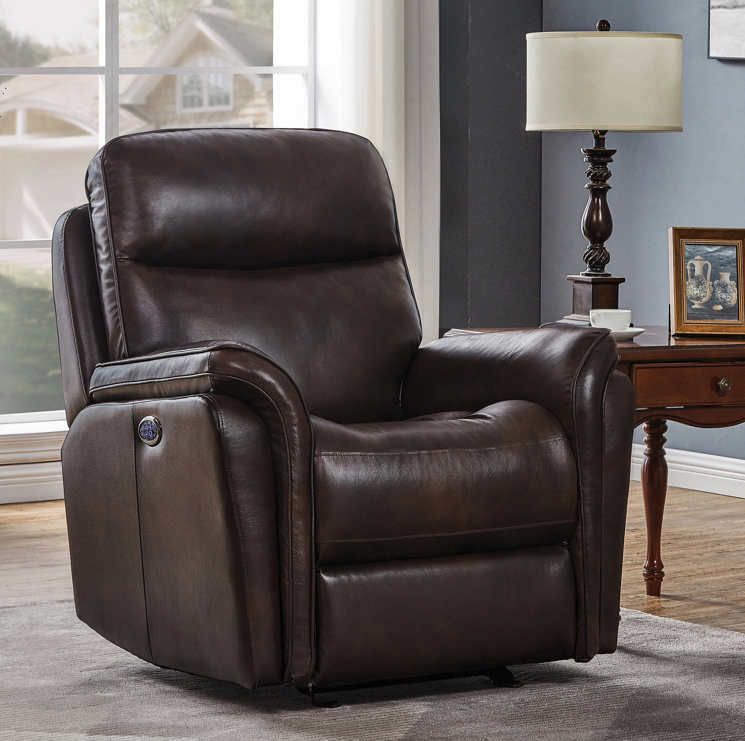 Leather Tufted Recliners You Ll Love In 2021 Wayfair