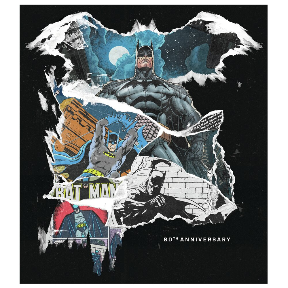 Batman 80th Anniversary Canvas Art