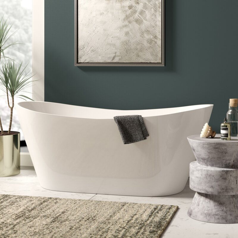 "Salmon 59"" X 29"" Freestanding Bath Therapy Bathtub"