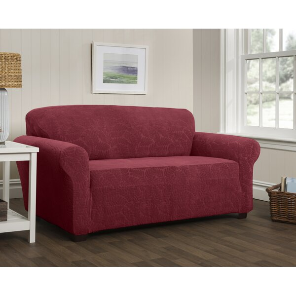 Stupendous Stretch Box Cushion Sofa Slipcover Machost Co Dining Chair Design Ideas Machostcouk