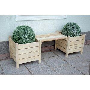 2-tlg. Gartenbank-Set Scarlett mit Blumenkasten von Home Loft Concept