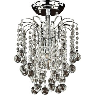 Tasya 1-Light Semi Flush Mount by Glow Lighting