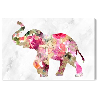 Bloomsbury Market Elephant Floral by Oliver Gal Graphic Art
